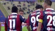 Goal fortunoso di Floccari in Bologna-Genoa