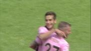 Chochev davanti alla porta non sbaglia il goal per il vantaggio del Palermo