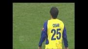 Langella sprinta, Cesar lo travolge: rigore per il Cagliari