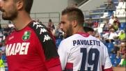 Clamoroso errore di Pavoletti in Sassuolo-Genoa: palla fuori