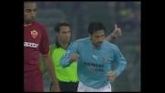 Colpo di testa a lato di Stefano Fiore nel derby di Roma