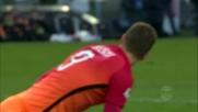 Colpo di testa sballato di Dzeko contro l'Udinese