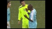 Colpo sul volto per Mudingayi contro l'Udinese