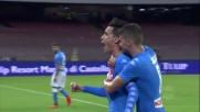 Con il goal di Callejon il Napoli si riporta in vantaggio nella sfida contro il Milan