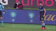 Con una conclusione al volo da fuori area Cataldi realizza il goal del sorpasso contro il Chievo