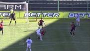 Conclusione di Ricky Alvarez fuori di poco a Cagliari