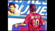 Conclusione insidiosa di Rui Costa contro la Sampdoria. Palla sulla traversa