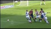 Contatto Basta-Crespo nel match fra Udinese e Genoa