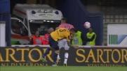 Contrasto tra Alex Sandro e Pisano nell'area juventina: è rigore per il Verona!