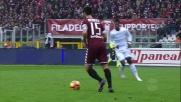 Controllo e tiro, Baselli tenta la giocata contro la Lazio
