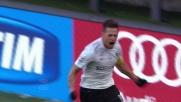 Contropiede dell'Atalanta e goal vittoria per Denis contro il Milan