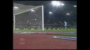Corradi anticipa Cannavaro ma lo ferma il palo