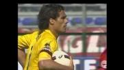 Corradi segna il goal della bandiera del Parma contro il Cagliari