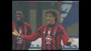 Crespo segna il goal del 4-0 del Milan contro la Fiorentina