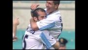 Cross di Pancaro, testa di Simeone: goal della Lazio