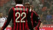 Seedorf scambia con Borriello e segna il goal a porta spalancata