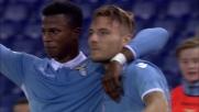 Immobile freddo dal dischetto. E' il goal del 2-0 per la Lazio contro il Cagliari