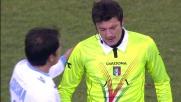 Ledesma colpisce in volto l'arbitro Celi con una pallonata