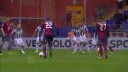 Da calcio piazzato Borriello con l'aiuto di una deviazione segna il goal dell'1-0 del Genoa sul Siena