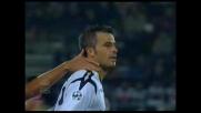 Dal dischetto Michele Fini fa goal all'Atalanta