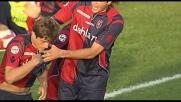 Dal dischetto Nenè non sbaglia: il Cagliari si riporta sul 2-2
