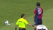 Dal dischetto Pinilla porta il Cagliari in vantaggio sul Parma