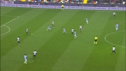 Danilo con un calcio stende Djordjevic e viene espulso in Udinese-Lazio