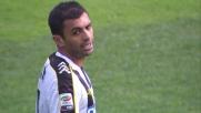 Danilo ferma fallosamente la corsa di Cuadrado nell'area dell'Udinese