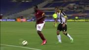 Danilo stoppa l'avanzata di Doumbia all'Olimpico di Roma