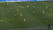 Aguirre spreca di testa il contropiede dell'Udinese: palla alta sopra la traversa
