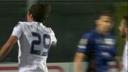 De Ceglie apre le marcature con un bel goal di testa contro l'Atalanta