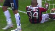 De Jong e Boateng mancano di un soffio la deviazione davanti alla porta dell'Atalanta