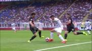 De Paul, dribbling sulla linea laterale contro il Milan