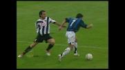 De Sanctis reattivo sul tiro di Figo, sfuma il raddoppio dell'Inter al Friuli