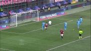 De Sanctis si allunga e devia il tiro angolato di Ibrahimovic
