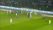 Del Piero prova a sorprendere su punizione Muslera che toglie la palla dall'incrocio e salva la Lazio