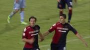Dessena di testa segna il goal vittoria del Cagliari