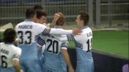 Destro al volo di Biglia e goal del vantaggio della Lazio contro la Fiorentina