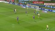 Destro colpisce male la palla nell'area della Fiorentina e sciupa un'occasione d'oro