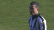 Destro improvviso di Di Natale contro l'Inter, ma la palla finisce fuori