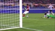Destro servito da Gervinho segna il goal del 2-0 all'Udinese