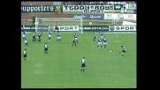Deviazione vincente di Di Michele, l'Udinese segna il goal del pareggio