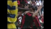 Maldini, gran destro per il goal del Milan