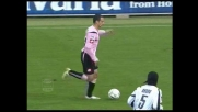 Di Michele sbaglia un rigore in movimento contro l'Udinese: palla sul palo