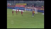 Di Michele segna il goal del doppio vantaggio dell'Udinese a Livorno