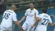 Di Michele, un goal d'antologia per il momentaneo vantaggio del Lecce a Marassi