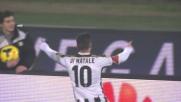 Di Natale porta in vantaggio l'Udinese con un gran goal in diagonale