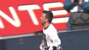 Di Natale segna il primo goal della doppietta al Chievo approfittando di un errore di Puggioni