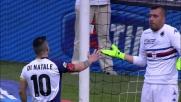 Di Natale su calcio di rigore firma il goal della bandiera dell'Udinese