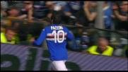 Di testa Pazzini segna il goal vittoria contro il Milan